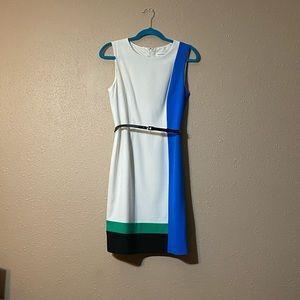 Commanding Color block Calvin Klein Dress